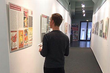 Bild aus der Ausstellung zur Erinnerung an das Ende des Spanischen Bürgerkriegs im Bamberger-Haus
