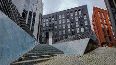 Eine Stadtansicht aus Estland